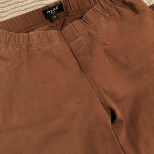 Denim - Rust colored moto jeans